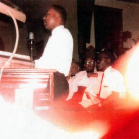 Image of Martin Luther King speaking at St. Paul AME Church