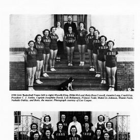 Image of Florida School for Deaf and Blind girl's basketball team from 1938